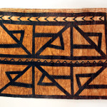 "Tapa Cloth Fragment, American Samoa ,Bark cloth, pigment 39"" (99 cm) high by 54"" (137 cm) wide. Early 20th century, Zena Kruzick"