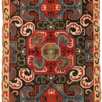 Southwest Caucasian stem-stitch embroidered panel, probably Karabagh, late 18th century. Est. €40-60,000