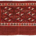 Yomut Turkmen chuval, mid 19th century. 112 x 75cm