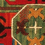 Detail. Southwest Caucasian stem-stitch embroidered panel, probably Karabagh, late 18th century.