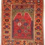 Mujur prayer rug, circa 1800.146 x 120 cm