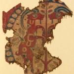 Andy Lloyd. Sogdian silk brocade textile fragment circa 700AD