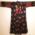 Molly Hogg. Wool tie-dyed coat, Ladakh, appliqued panels of trade-cloth. Early 20th century