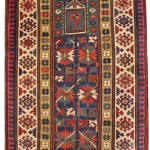Seneh Carpets. Antique Karabagh Rug. 1.66m x 0.90m