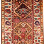 Seneh Carpets. Antique Kurdish Runner. 3.52m x 1.20m