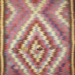 Seneh Carpets. Antique Varamin-Kurd Kilim. 2.00m x 1.26m