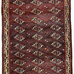 Tribal Rugs Gallery. Yomut Turkmen main carpet, early 19th century