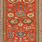 Lot 1051. Caucasian Sumakh Rug, 19th century. sold for $6875
