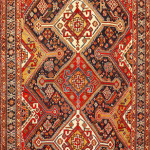 Lot 1012. Qashqa'i rug, 19th century. Sold for $6875