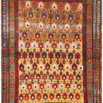 Lot 1047.  Kuna rug, northeast Caucasus, dated 1877. Sold for $4375