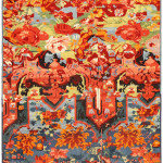 Lot 1055. Zeikhur rug, late 19th century. Sold for $4750