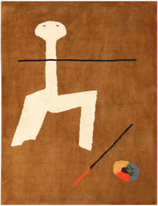 Lot 1057. Modernist rug with a design by Joan Miró, France, 20th century. Sold for $6250