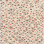 Lot 1079. Moroccan carpet, 20th century. Sold for $8750