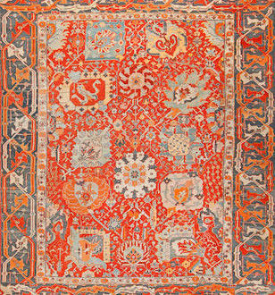 Lot 1124. Ushak carpet, west Anatolia, late 19th century. Sold for $56,250