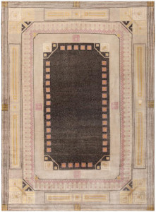 Jugendstil (Art Deco) carpet by Josef Hoffmann, Austria, ca. 1920. Sold for $52,000
