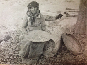 Vintage photograph showing 19th century sericulture in Georgia. The Silk Museum, Tbilisi.