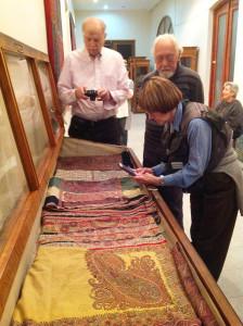 Cashmere shawls in the stores at National Museum of Georgia, Simon Janashia Museum of Georgia, Tbilisi
