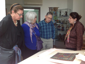 HALI Tour group view material from the archives with Irine Koshoridze, Director of the Georgian State Museum of Folk and Applied Art