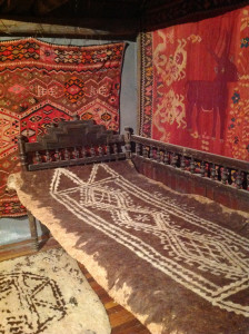 Room set of an early 20th century rural Armenian home with felts and kelims, Museum of Ethnography & Carpets, Gavar, Armenia