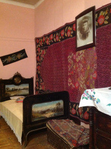 Room set of a wealthy early 20th century Armenian home, Museum of Ethnography & Carpets, Gavar, Armenia