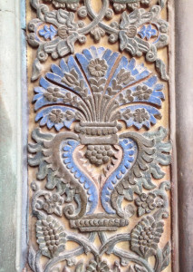 Decorative panel on the entrance to Etchmiadzin Cathedral