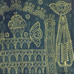 Resist dyed indigo altercloth, made in India for the Armenian Church (detail), donated to the treasury from Georgia, Holy Mother See, Etchmiadzin, Armenia