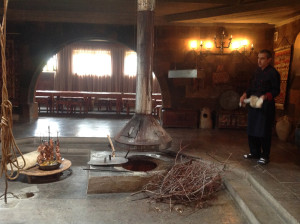 Traditional tonir underground oven - lunch at Sardarapat
