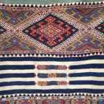 Weft float brocade and flatwoven textile (detail), Museum of Sardarapat, Armenia