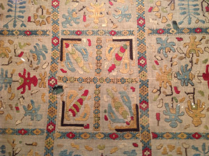 Embroidery depicting bees and gardens, Hovannes Sharambeyan Museum of Folk Arts, Yerevan