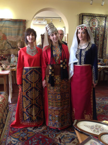 Traditional Armenian costume modelled at the Folk Arts Hub Foundation at the Silk Road Hotel, Yerevan