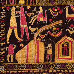 Phulkari sainchi (detail), Punjab, early 20th century, 123 x 228 cm