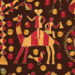 Phulkari sainchi (detail), Punjab, early 20th century, 123 x 217 cm
