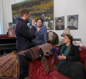 Ben Evans discusses emboidered Georgian folk costumes in the private collection of Nino Kipshidze with Nino and Irine Koshoridze