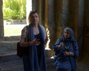 Guide Tamara Natenadze at the 11th-century Svetitskhoveli Cathedral