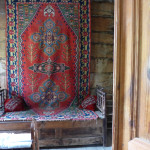 Georgian kilim as used in an 18th century house, Open Air Ethnographic Museum, Tbilisi