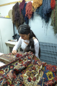 Megerian Carpets restoration workshops, Yerevan