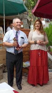 Vladimir Grigoryan tour guide and Tatev Muradyan manager of the Silk Road Hotel and Folk Arts Hub, Yerevan