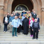 HALI Tour group 2016 with Father Asoghik, Director of the Museums & Archives of the Mother See of Holy Etchmiadzin