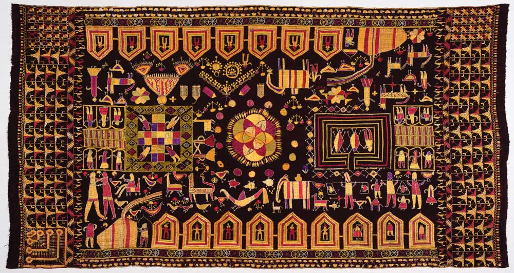 Phulkari sainchi, Punjab, early 20th century, 123 x 228 cm