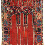 Lot 7116 The Anton Danker Ladik Column Prayer Rug, 17th_century. Henrys Auktionshaus, 11 June, estimate €15,000.