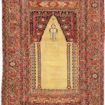 Lot 7117 Part cotton Ghiordes prayer rug circa 1700. Henrys Auktionshaus, 11 June, estimate €3,000.