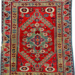 Lot 72343 Dazkiri rug with Transylvanian design, early 19th century. Henrys Auktionshaus, 11 June, estimate €3,000.
