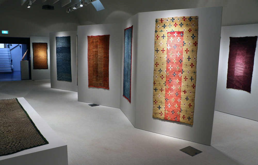 Early Tibetan Rugs at MICHAEL WOERNER, ASIAN ART IN  BRUSSELS 8th-12th June 2016_03, featuring the often-published BAUSBACK  Tie-dyed Crosses Rug
