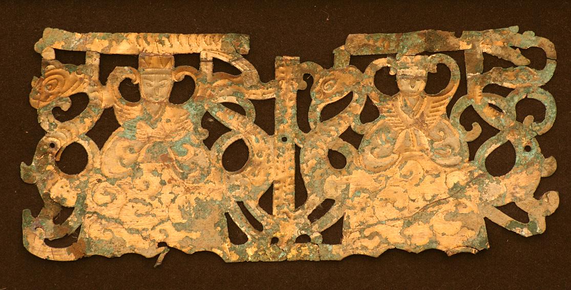 Warring state openwork plaque, 475-221 BCE, China. Galerie Arabesque, Stuttgart