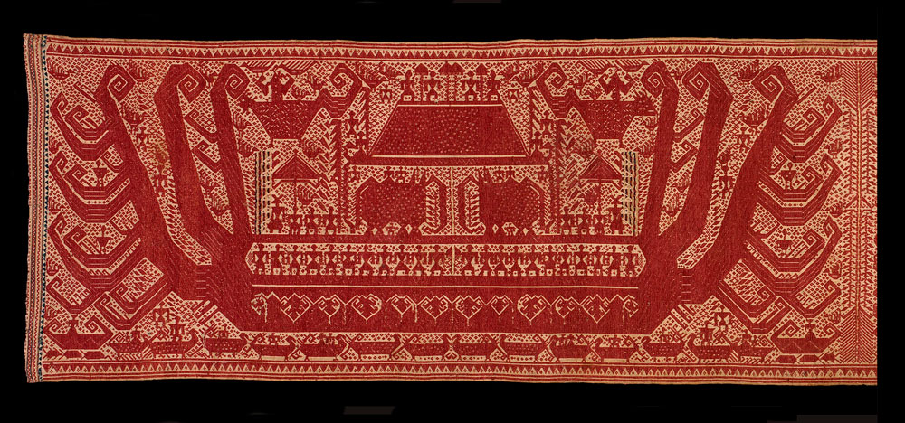 Double red-ship palepai ceremonial textile