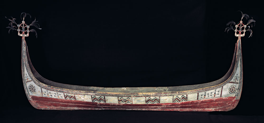 Canoe, Yami peoples, Botel Tobago Island, Taiwan, mid-20th century. Anonymous Gift, Fowler Museum at UCLA