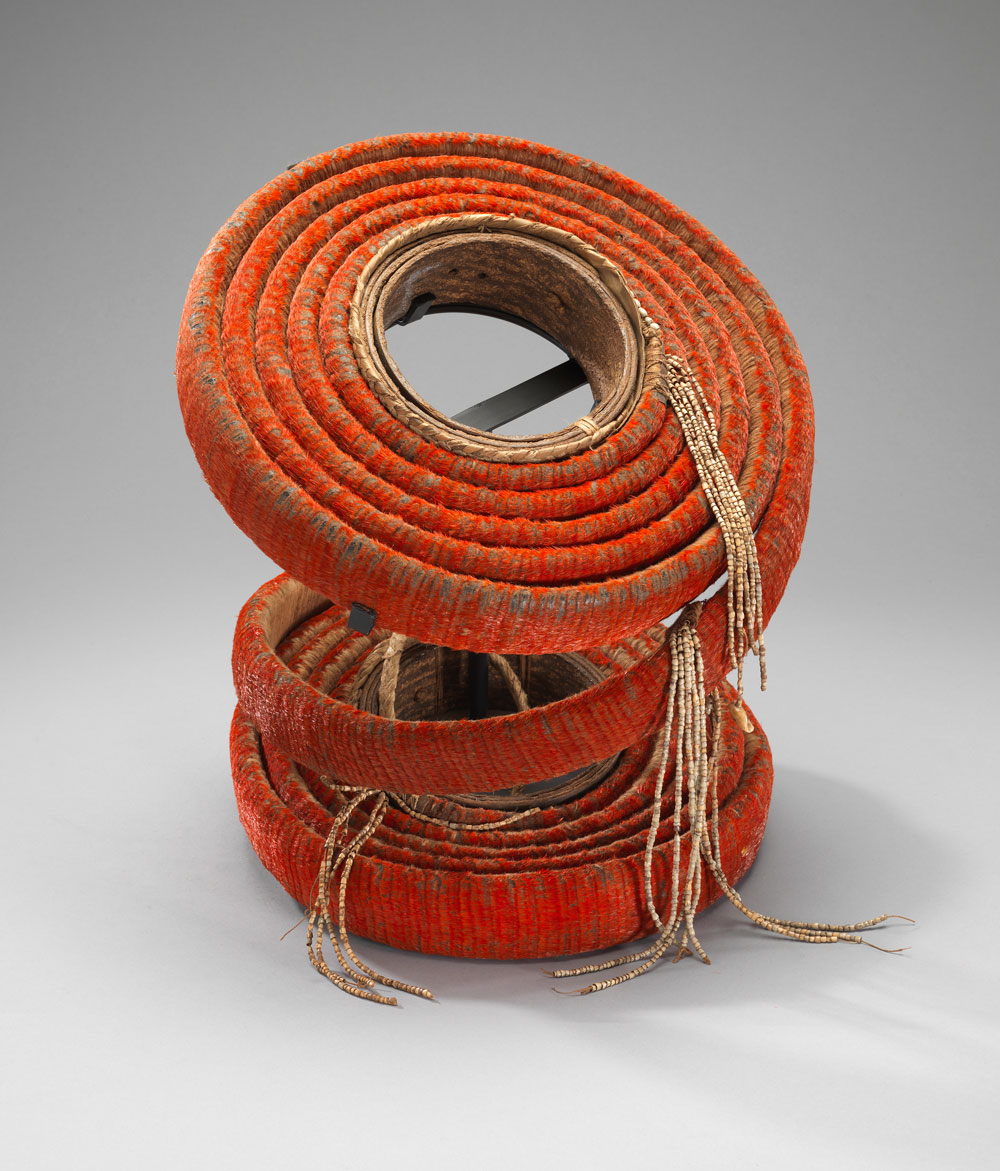 Red feather currency, Santa Cruz Islands, Solomon Islands, mid-20th century. Gift of Bennet Mermel, Fowler Museum at UCLA