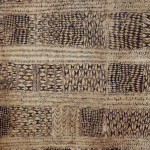 Michael Evans Tribal Art, handpainted bark cloth, Polynesia, 1860, 148 x 160 cm (detail), © Michael Evans Tribal Art