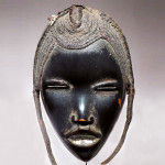 Dandrieu - Giovagnoni, Dan Mask, Ivory Coast, early twentieth century, wood, metal, plant fibers and hair, 26 x 14 cm, © Dandrieu - Giovagnoni, photo Gallery Archives