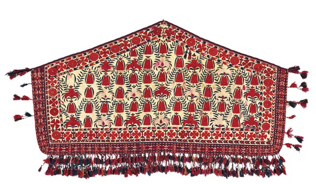 Lot 13 A Part Silk Tekke Embroidered Asmalyk Late 19th Century 5 000 7 Oriental Rugs And Carpets King Street 18 10 16